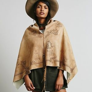 Free People Natural Sherpa Hand Painted Pullover